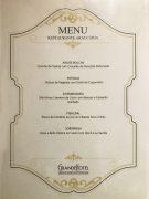 Menu degustação do chef Mauro Sierro