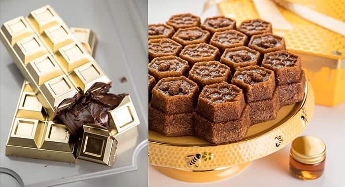Chocolate com nutella e bolo de mel