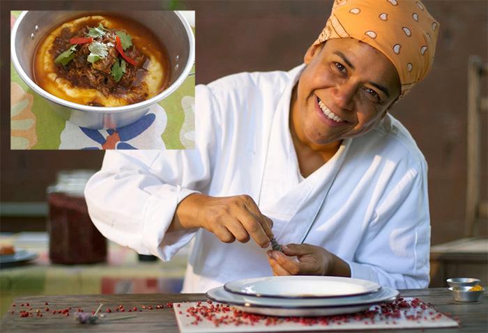 A chef Tanea Romão está oferecendo almoços em seu novo Kitanda Brasil