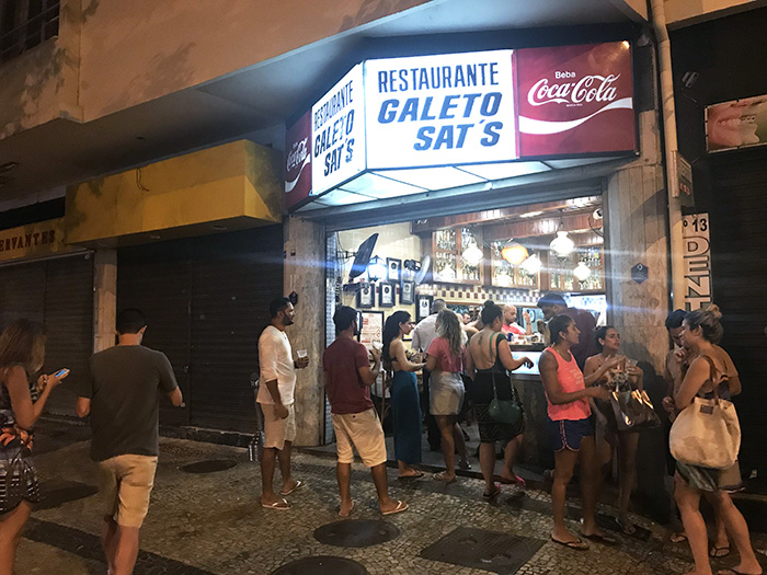 Fachada do Galeto Sat's