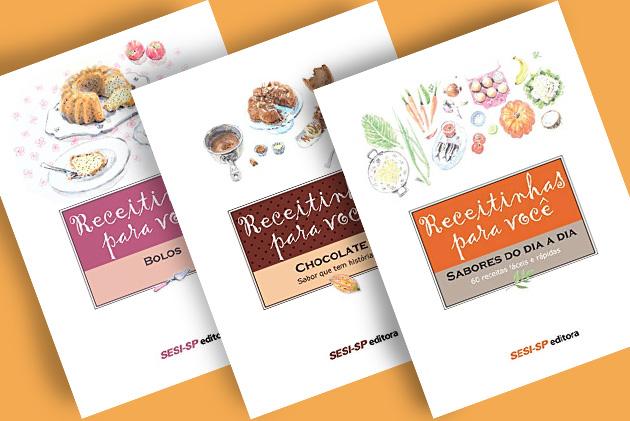 Editora disponibiliza três e-books gratuitos de gastronomia